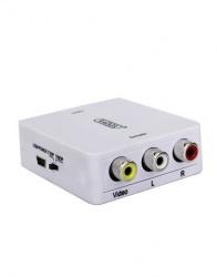 Radox Adaptador Convertidor de Video Alta Definición 1x HDMI - 3x RCA, Blanco