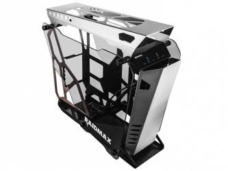 Gabinete Raidmax X08 Transparente, Midi-Tower, ATX/ITX/Micro-ATX, USB 3.0, sin Fuente, Gris/Negro
