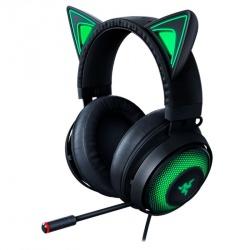 Razer Audífonos Gamer Kraken Kitty Edition, Alámbrico, 1.3 Metros, USB, Negro/Verde