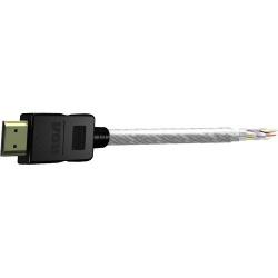 RCA Cable DH12HHF HDMI Macho - HDMI Macho, 3.6 Metros, Negro/Gris