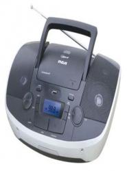 RCA Radiograbadora RCD-108B, 5W RWS, FM, CD, USB, Bluetooth, Negro, Plata