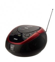 RCA Radiograbadora RCD-87BT, 6W RMS, FM, CD, Bluetooth, Negro/Rojo