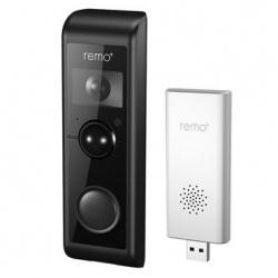 Remo+ Kit de Interfon y Videoportero RemoBell W, Altavoz, Inalámbrico, Negro/Blanco