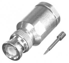 RF Industries Conector Coaxial de Rosca BNC Macho, Plata