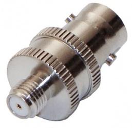 RF Industries Conector Coaxial BNC Hembra - SMA Hembra, Plata