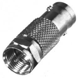 RF Industries Conector Coaxial BNC Hembra - F Macho, Plata