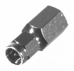 RF Industries Conector Coaxial en Linea FME Macho - SMA Macho, Plata
