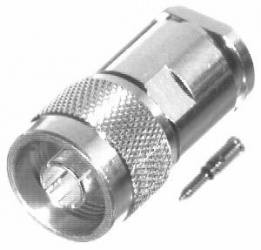 RF Industries Conector N Macho, Plata