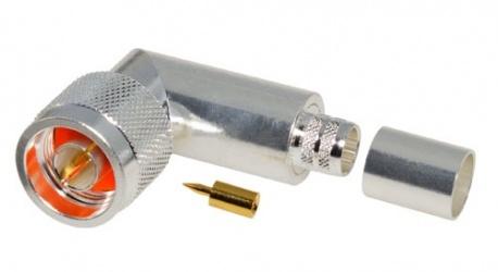 RF Industries Conector Coaxial N Macho, Plata