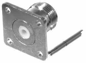 RF Industries Conector Coaxial N Hembra, con Montaje de 4 Perforaciones
