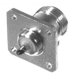 RF Industries Conector Coaxial N Hembra, Montaje con 4 Perforaciones, Plata