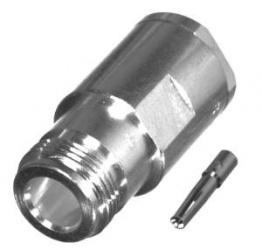 RF Industries Conector Coaxial de Anillo Plegable RF N Hembra, Plata