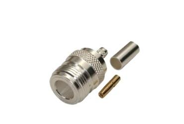 RF Industries Conector Coaxial de Anillo Plegable N Hembra, Plata