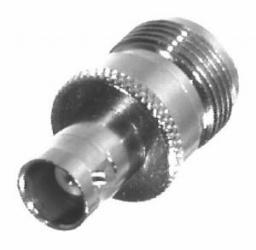 RF Industries Conector Coaxial N Macho - BNC Hembra, Plata