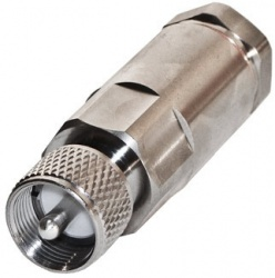 RF Industries Conector Coaxial UHF Macho, Plata