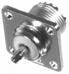 RF Industries Conector Coaxial UHF Hembra, Níquel
