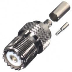 RF Industries Conector Coaxial UHF Hembra, Plata