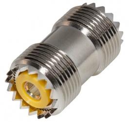 RF Industries Conector Coaxial de Barril UHF Hembra - UHF Hembra, Plata
