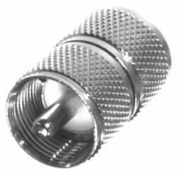 RF Industries Conector Coaxial de Barril UHF Macho - UHF Macho, Plata