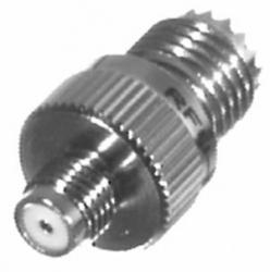 RF Industries Conector Coaxial Mini UHF Hembra - SMA Hembra, Plata