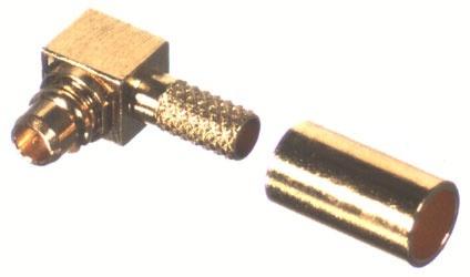 RF Industries Conector Coaxial MMCX Macho, Oro