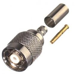 RF Industries Conector Coaxial de Anillo Plegable TNC Macho, Plata