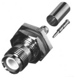 RF Industries Conector Coaxial de Anillo Plegable TNC Hembra, Plata
