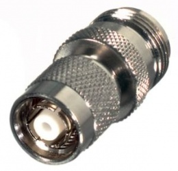 RF Industries Conector Coaxial en Linea TNC Macho - N Hembra, Plata