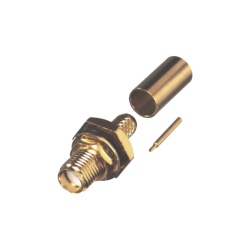 RF Industries Conector Coaxial SMA SMA Hembra, Oro