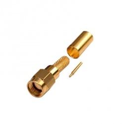 RF Industries Conector Coaxial SMA Macho, Oro
