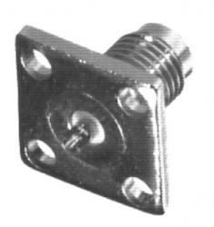RF Industries Conector Coaxial SMA Hembra, Montaje de 4 Perforaciones, Plata