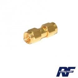 RF Industries Conector Coaxial de Barril SMA Macho - SMA Macho, Oro
