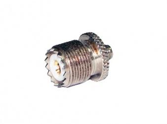 RF Industries Conector Coaxial en Linea SMA Hembra - UHF Hembra, Metálico