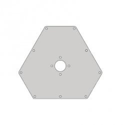 Rohn Placa Superior para Torre RSL Sección 3 y 4, Gris