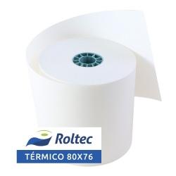 Roltec Rollo de Papel Térmico, 80 x 70mm, 60 Rollos
