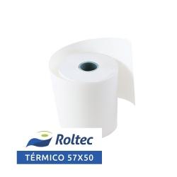 Roltec Rollo de Papel Térmico, 57 x 50mm, 147 Rollos