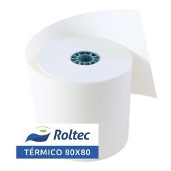 Roltec Rollo de Papel Térmico, 80 x 80mm, 50 Rollos