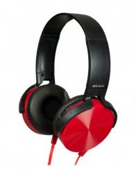 Romms Audífonos HP-450, Alámbrico, 3.5mm, Rojo/Negro