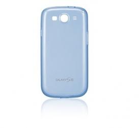 Samsung Funda de TPU EFC-1G6W para Celular, Azul/Transparente, para GALAXY S III