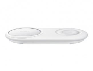 Samsung Cargador Inalámbrico Duo Pad EP-P5200, 10V, 1x USB-C, Blanco