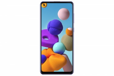 "Smartphone Samsung Galaxy A21s 6.5"", 720 x 1600 Pixeles, 64GB, 4GB RAM, 3/4G, Android 10.0, Azul"