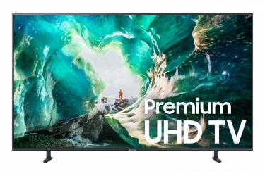 "Samsung Smart TV LED RU8000 55"", 4K Ultra HD, Widescreen, Negro"