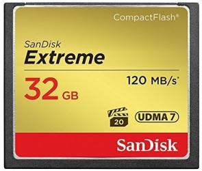 Memoria Flash SanDisk CF Extreme, 32GB CompactFlash