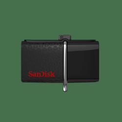 Memoria USB SanDisk Ultra Doble OTG, 64GB, USB 3.0/Micro USB, Negro