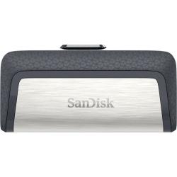 Memoria USB SanDisk Ultra Dual, 64GB, USB A 3.0/USB C, Negro/Plata