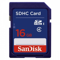 Memoria Flash SanDisk, 16GB SDHC Clase 2