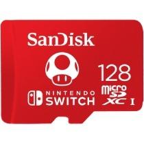 Memoria Flash SanDisk para Nintendo Switch, 128GB MicroSDXC Clase 3