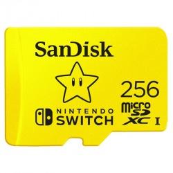 Memoria Flash SanDisk para Nintendo Switch, 256GB MicroSDXC Class 3 (U3)