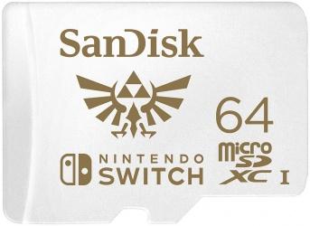 Memoria Flash SanDisk, 64GB MicroSDXC UHS-I Clase 3, para Nintendo Switch