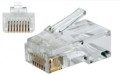 SBE Tech Conector Cat 5e RJ-45, Transparente